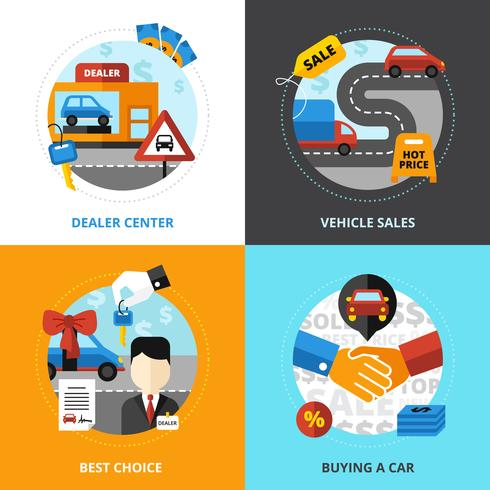 Concept de design 2x2 de la concession automobile