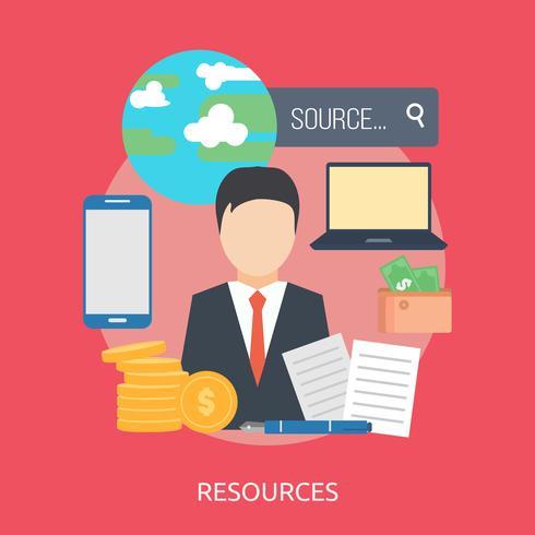 Ilustração conceitual de recursos Design vetor