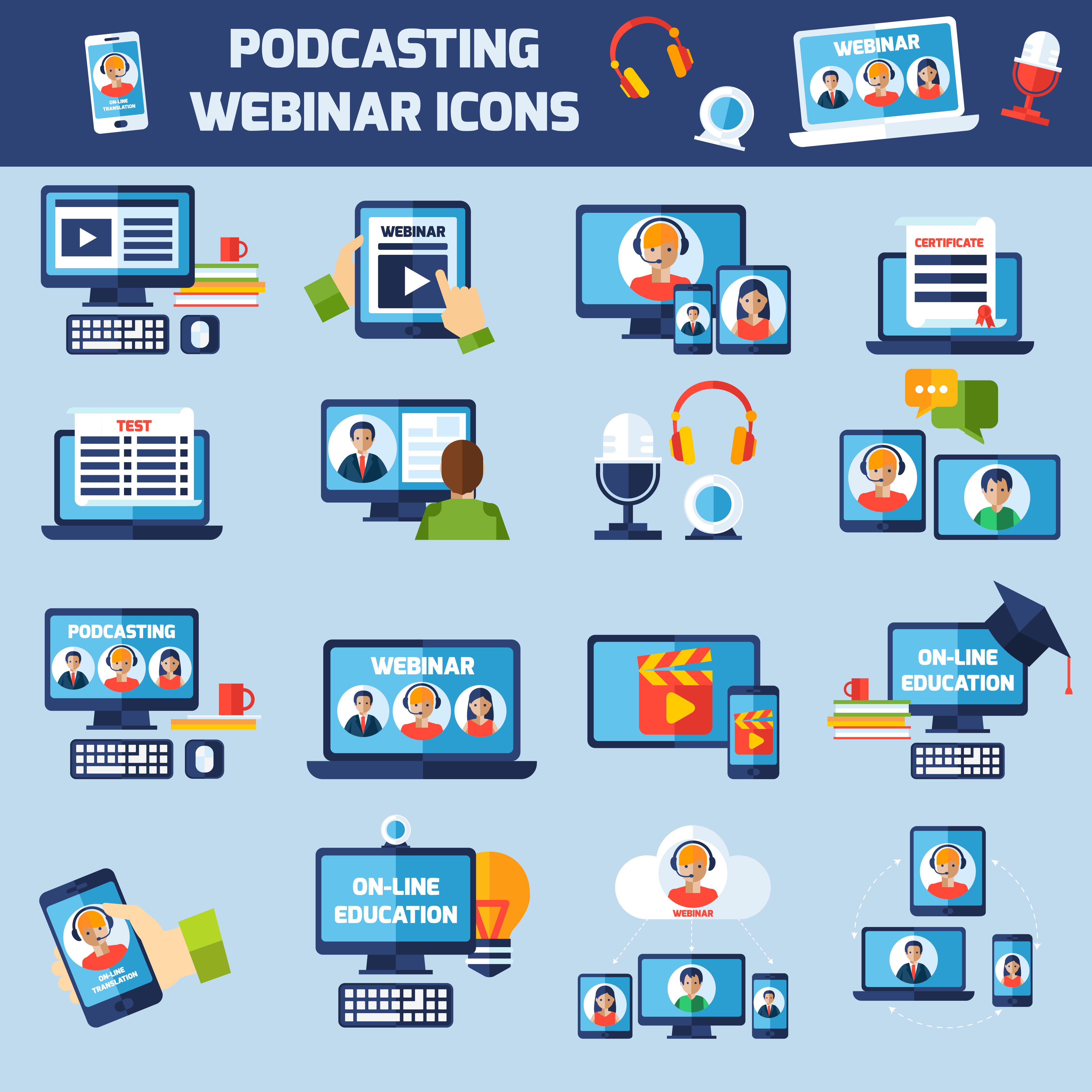 Podcasting and webinar...
