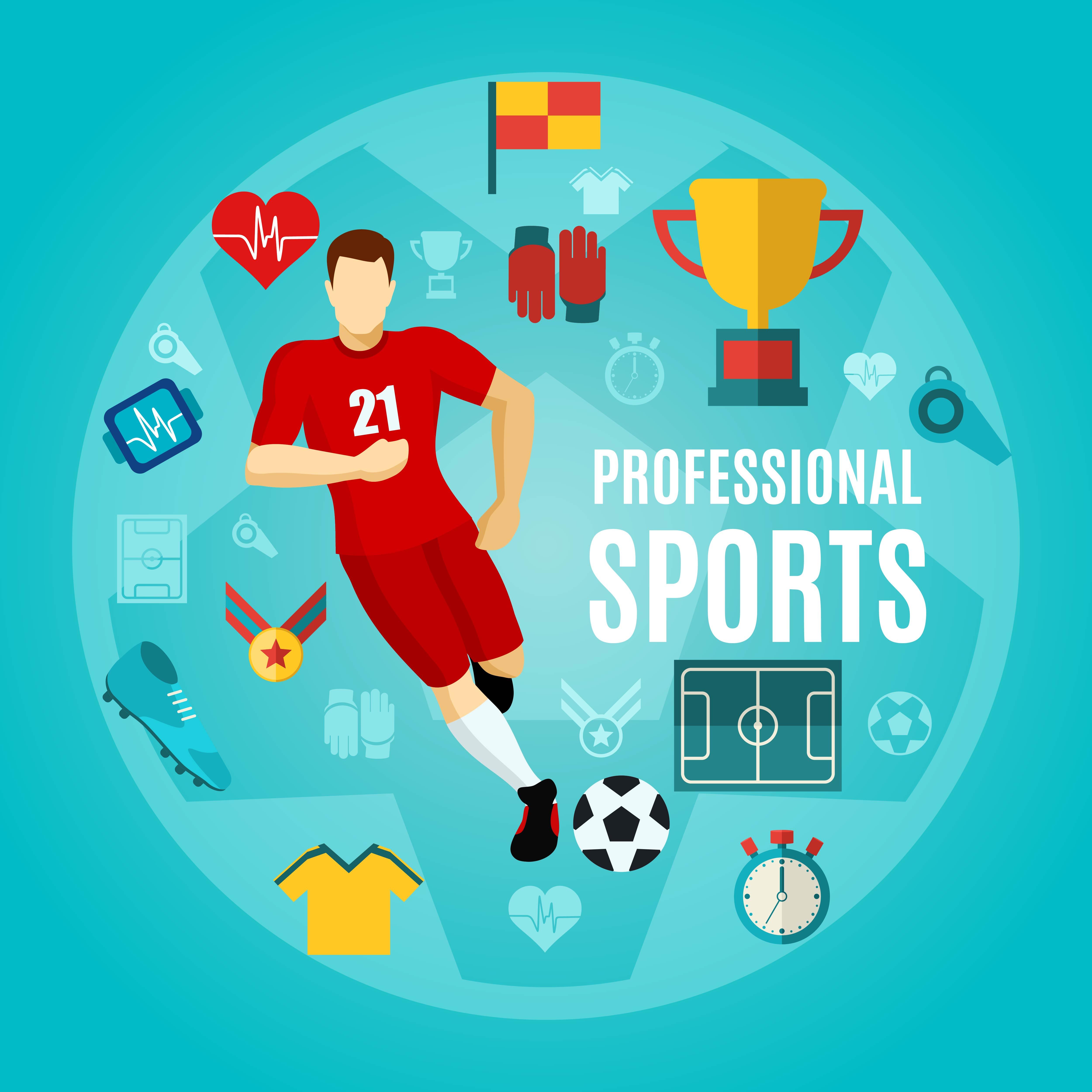 Professional Sports Flat Icon Set - Download Free Vectors ...