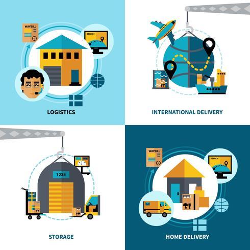 Logistik 2x2 Design Concept Set