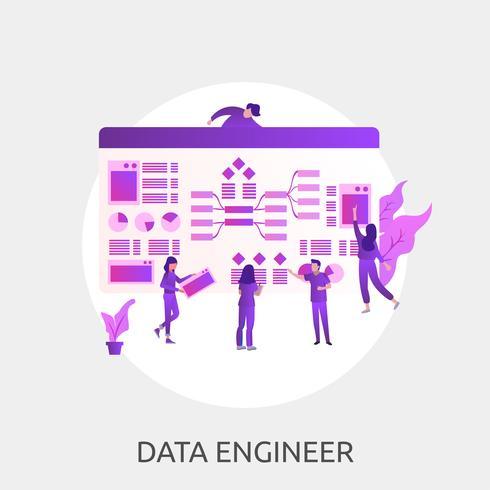 Ingénieur de données Illustration conceptuelle Conception