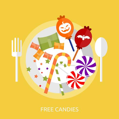 Gratis Candies Konceptuell illustration Design vektor