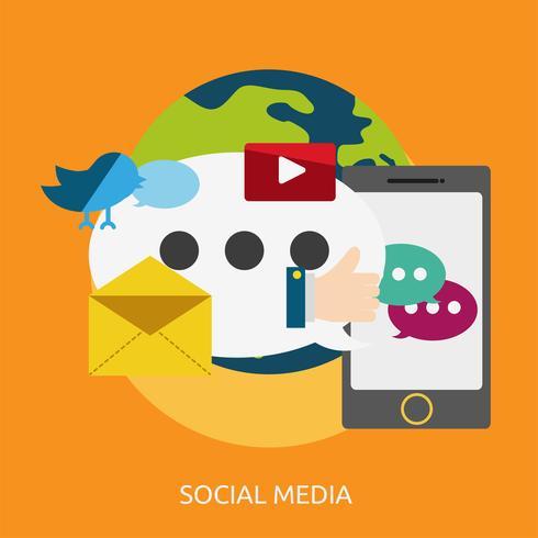 Ilustração conceitual de mídia social Design