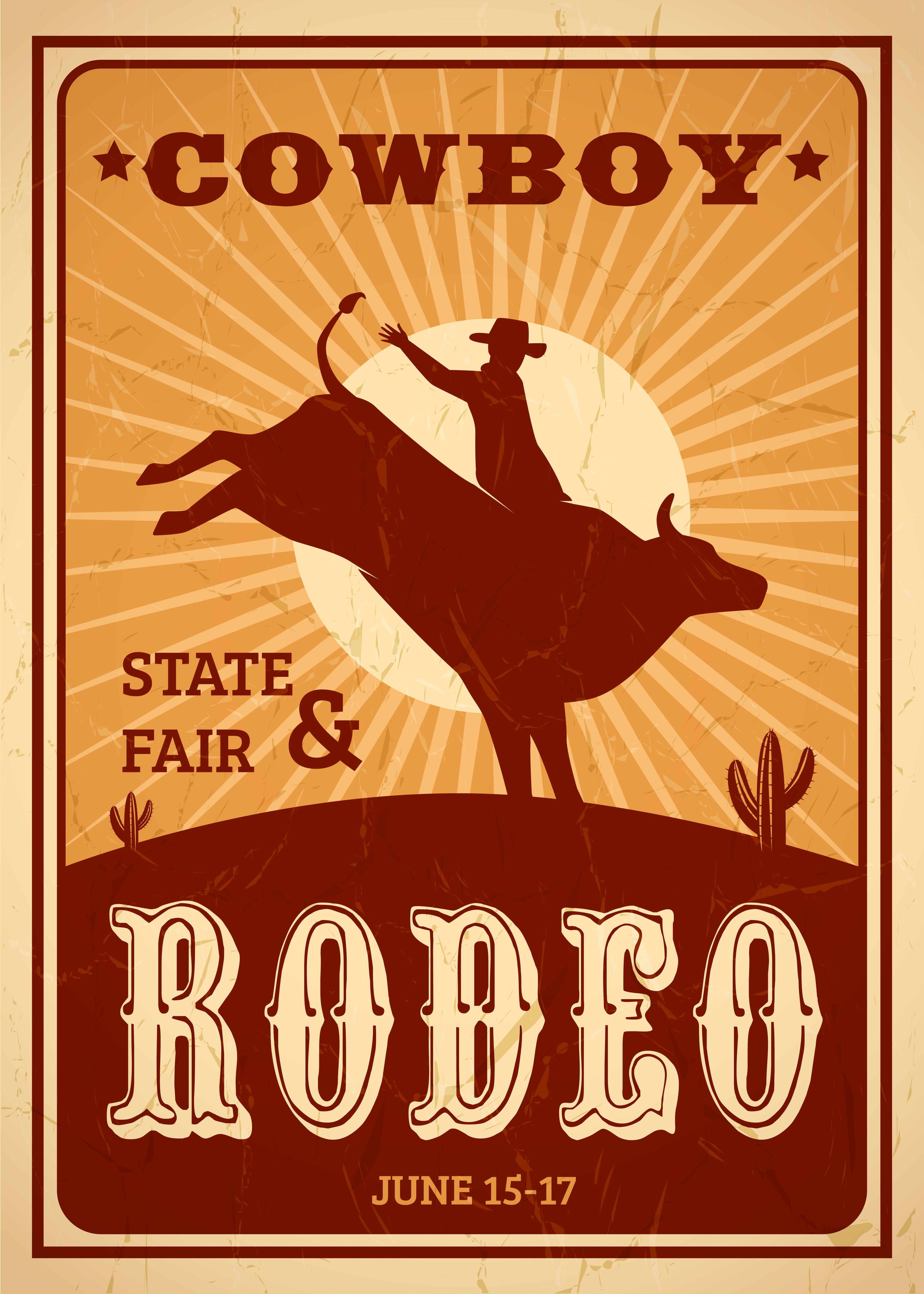 Advertisement Rodeo Poster Download Free Vectors