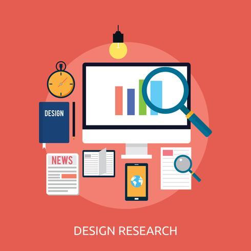 Design Conceptual conceitual de pesquisa Design vetor