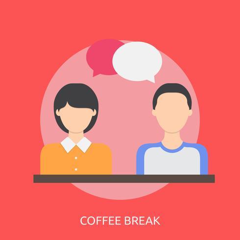 Kaffepaus Konceptuell illustration Design