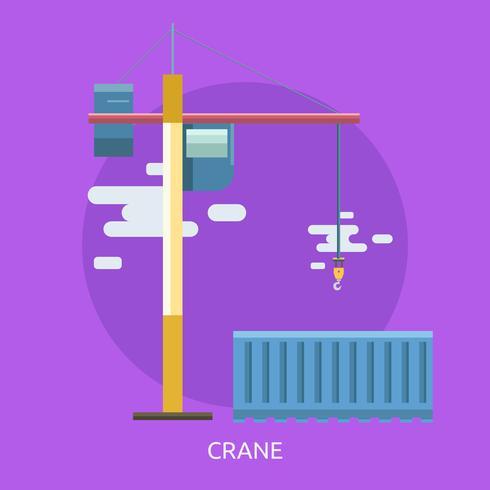 Crane Konceptuell illustration Design