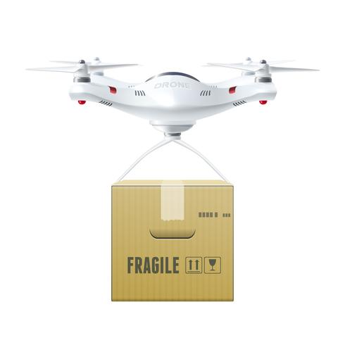 Unmanned Drone With Box