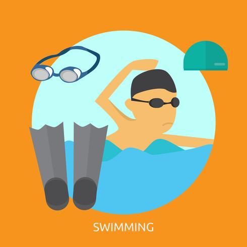 Ilustração conceitual de natação Design vetor
