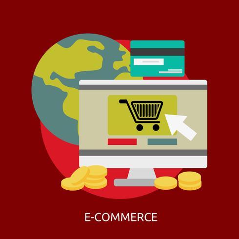 E-commerce Conceptual ilustración Diseño vector
