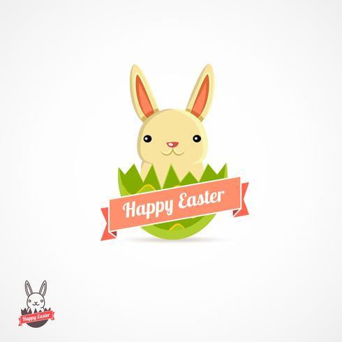 Easter logo illustration vector