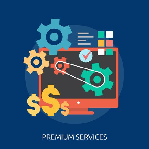 Premium Services Conceptual illustration Design