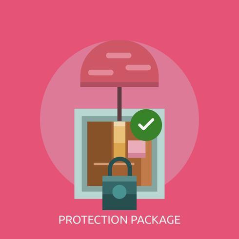 Progettazione concettuale dell'illustrazione del pacchetto di protezione