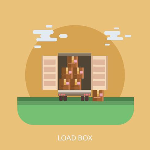 Load Box Konceptuell illustration Design vektor