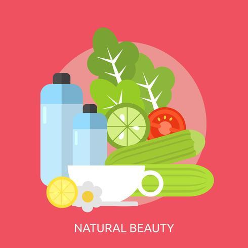 Ilustração conceitual de beleza natural Design vetor