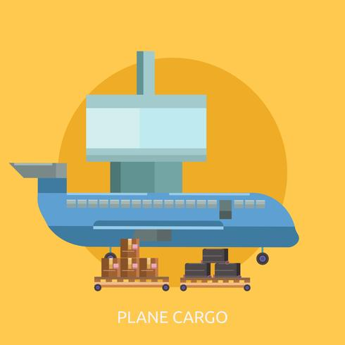 Plane Cargo Conceptual illustration Design