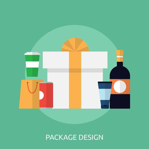 Konceptuellt paketillustration Design