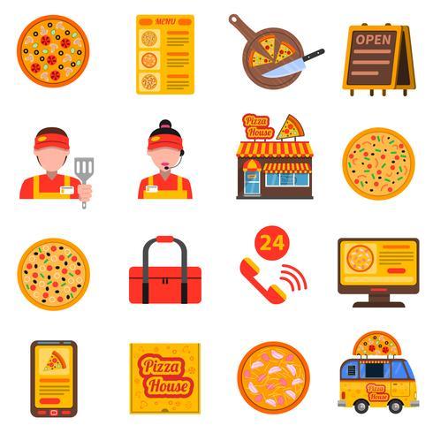 Conjunto de color pizza
