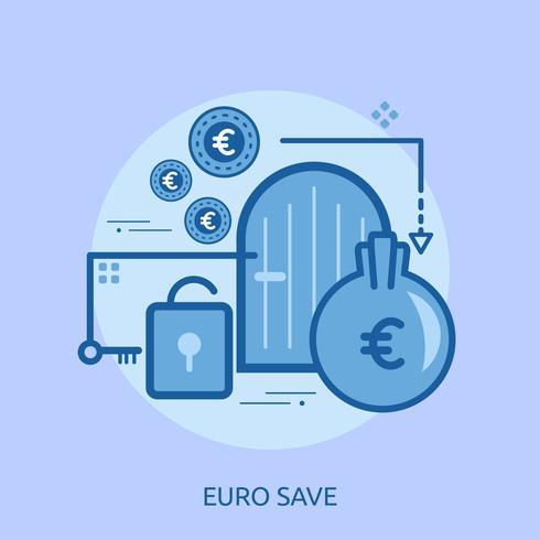 Dollar Save Conceptual ilustración Diseño