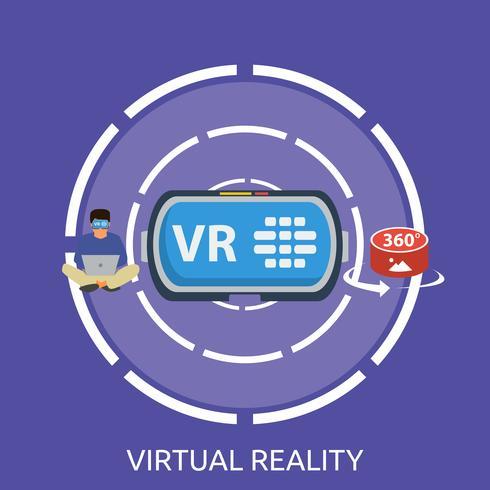 Ilustração conceitual de realidade virtual Design