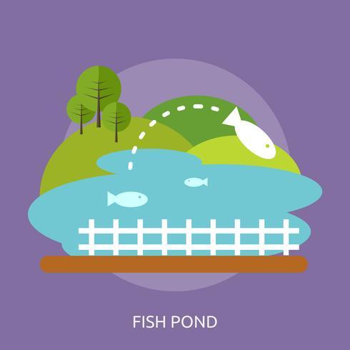 Fish Pond Conceptual illustration Design vector