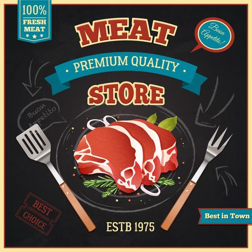 Meat Store Poster vector