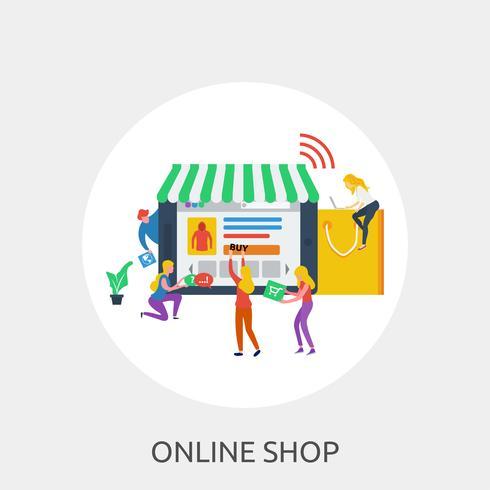Online Shop Konceptuell illustration Design vektor