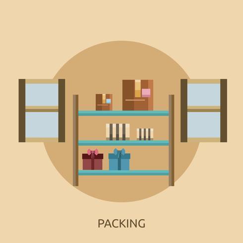 Imballaggio design illustrazione concettuale