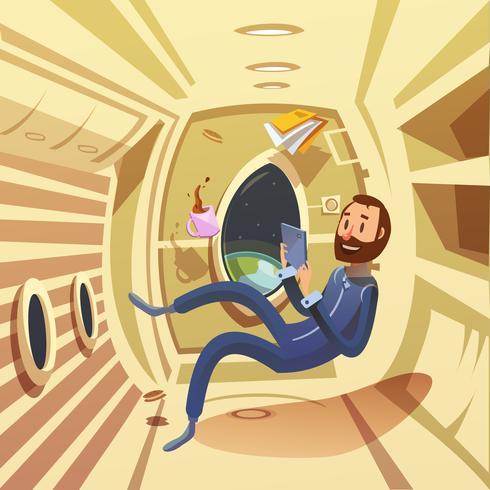 Ilustração Interior Spaceship vetor