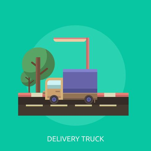 Ilustração conceitual de caminhão de entrega vetor