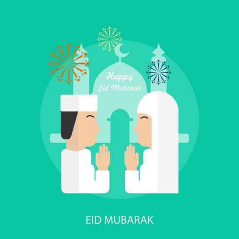 Ilustração conceitual de Eid Mubarak