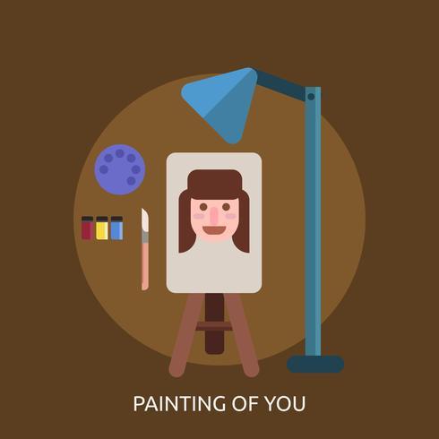 Målning av dig Konceptuell illustration Design