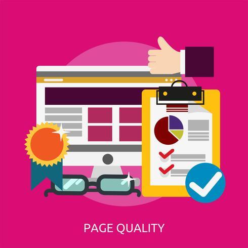 Ilustração conceitual de qualidade de página Design vetor