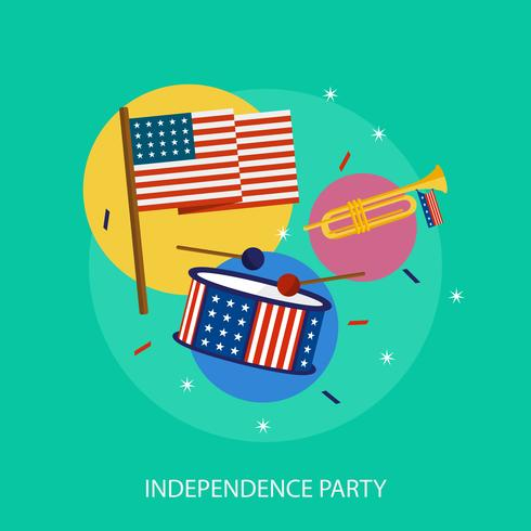 Independence Party Konceptuell illustration Design