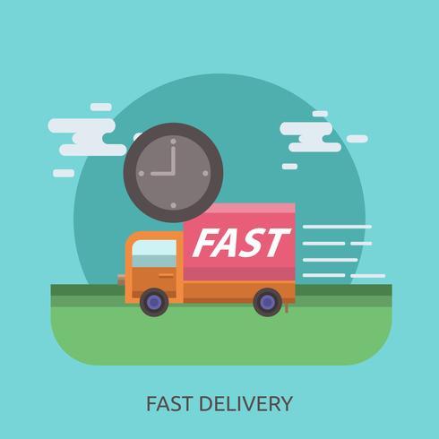 Progettazione dell'illustrazione concettuale di consegna veloce