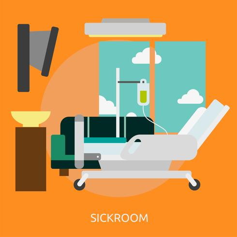 Sickroom konzeptionelle Illustration Design