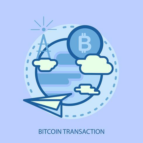Transacción Bitcoin Conceptual Ilustración Diseño