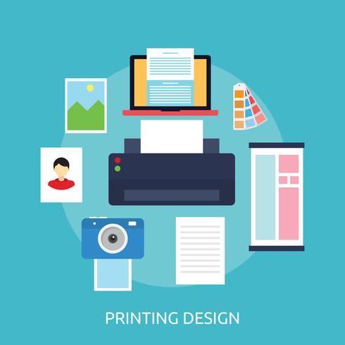 Utskriftsdesign Konceptuell illustration Design