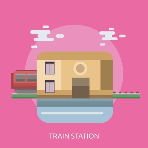Train Station Conceptual illustration Design