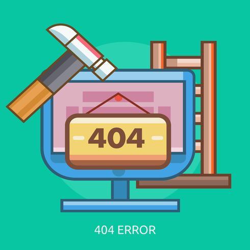 404 Fel Konceptuell illustration Design