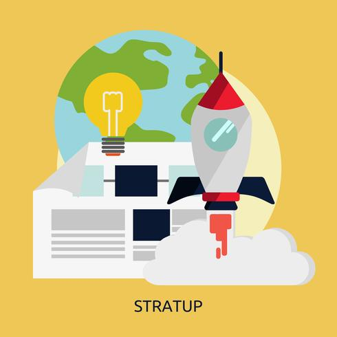 Startup Conceptual illustration Design
