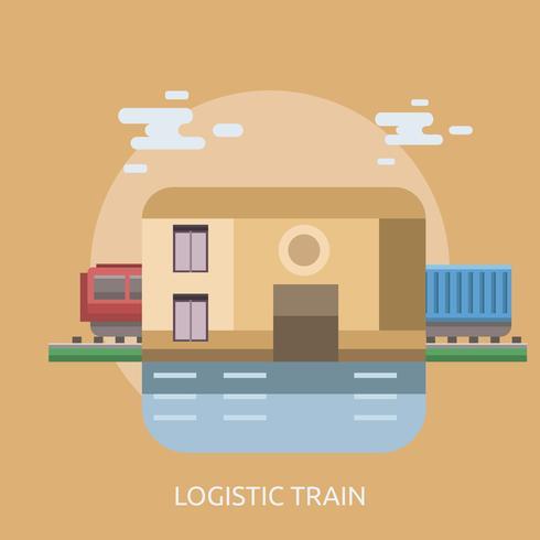 Logistieke trein conceptuele afbeelding ontwerp
