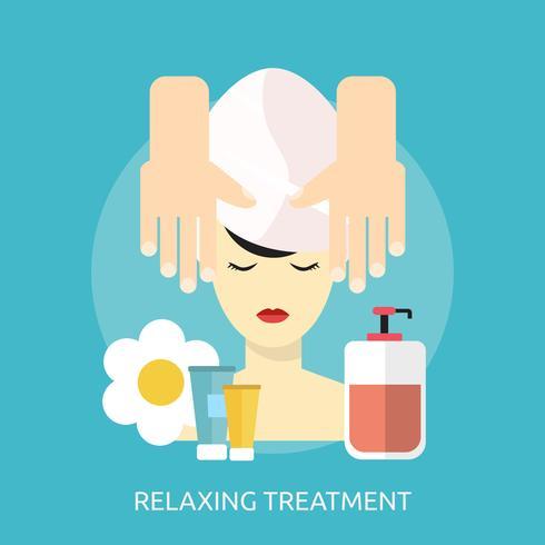 Tratamiento relajante Ilustración conceptual Diseño