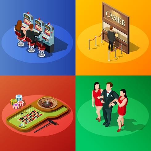 Casino 2x2 Isometric Design Concept