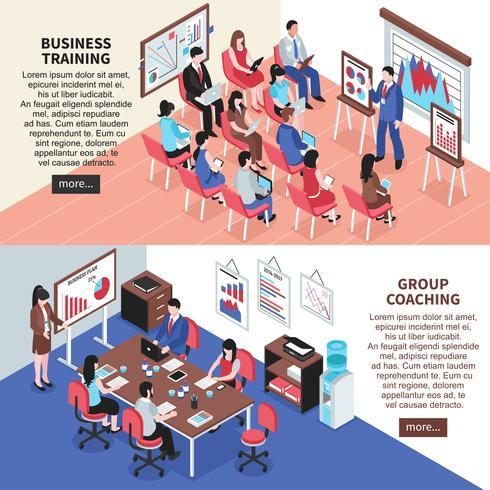 Treinamento Empresarial e Banners de Coaching de Grupo