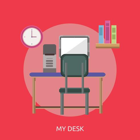 My Desk Conceptual illustration Design