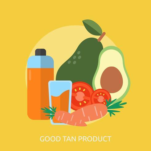 Bra Tan Produkt Konceptuell Illustration Design