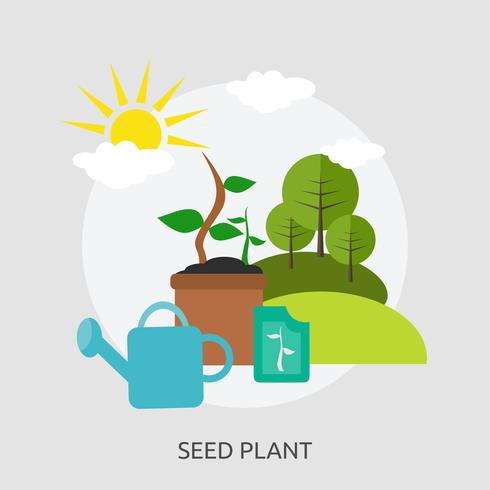 Seed Plant Conceptual Illustration Design