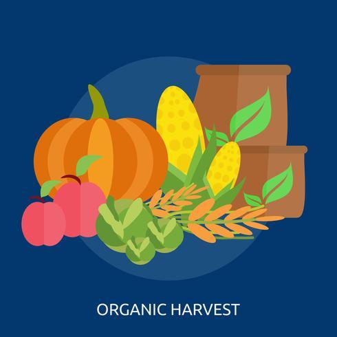 Ilustração conceitual de colheita orgânica